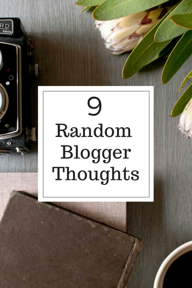 random blogger thoughts