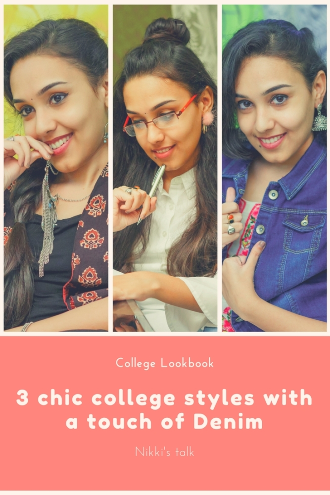 3 chic college styles with a touch of Denim