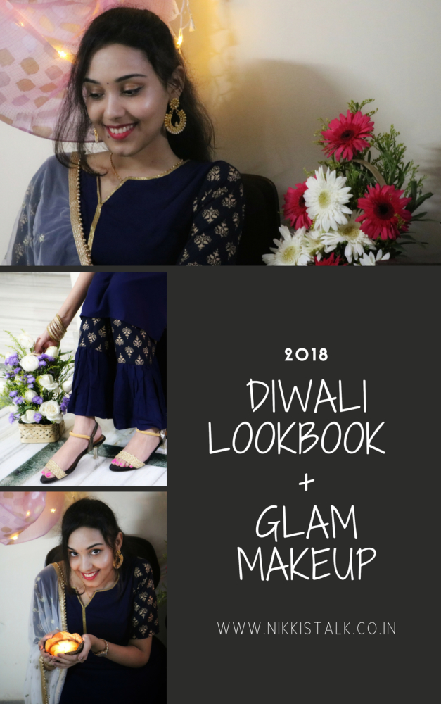 diwali lookbook | glam makeup