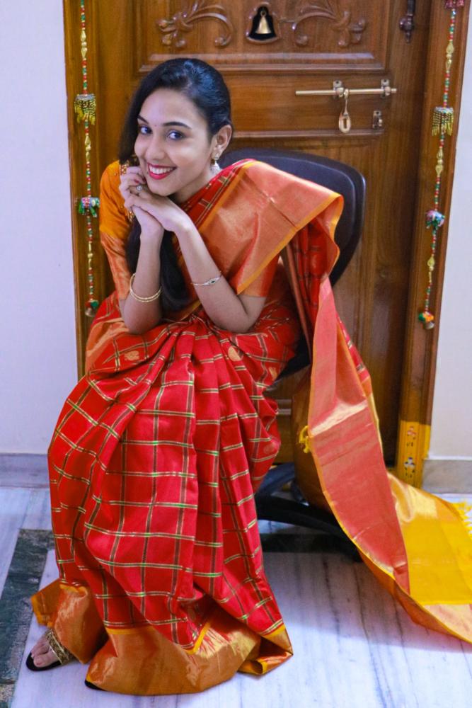 navratri day 5 | kanjivaram saree